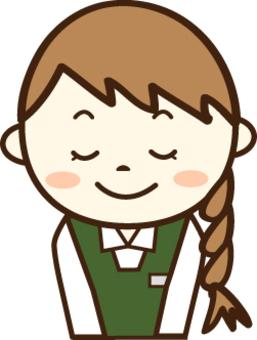 一條綠色圍裙的秘書(謝謝2)