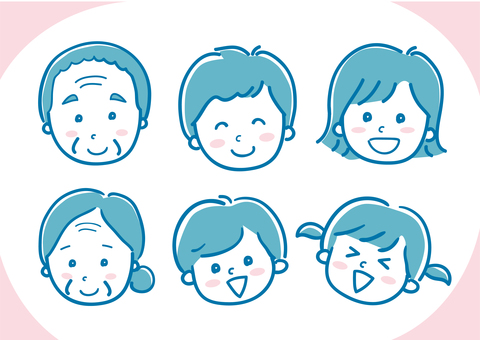 Family Illustration Three Generations 04