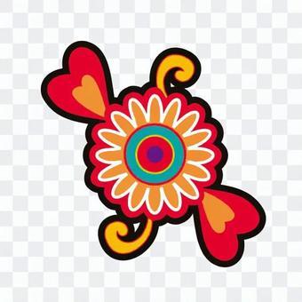 Flower · Heart decoration