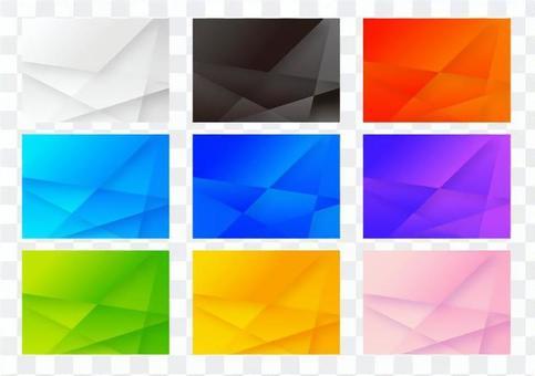 화려한 선형 별 모양 패턴 추상 배경 세트