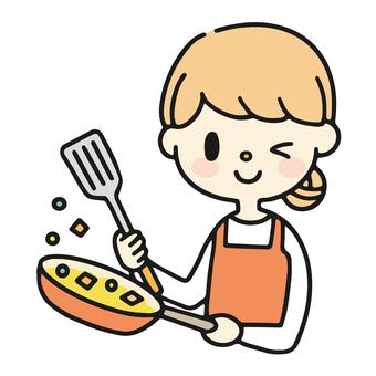 做飯的女人