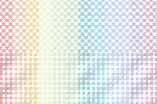 方格布式檢查彩虹顏色集