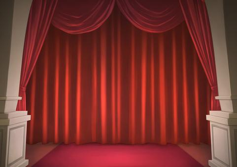 Stage curtain background illustration