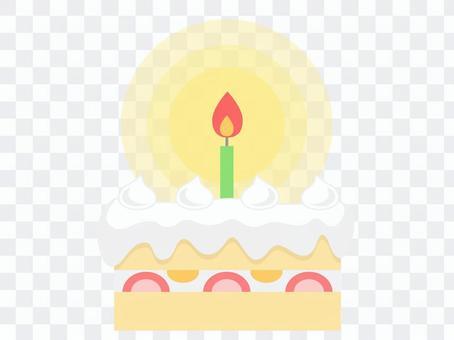 生日蛋糕(1蠟燭燈)