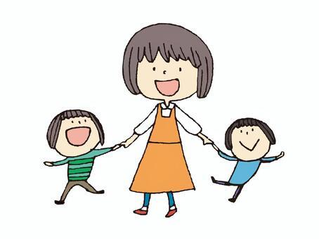 孩子和妹妹