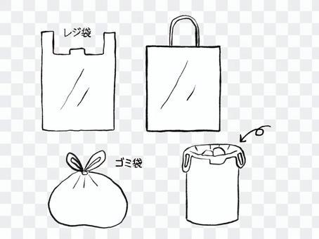 使用塑料購物袋作為垃圾袋