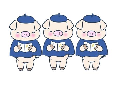 小豬合唱團(藍色)