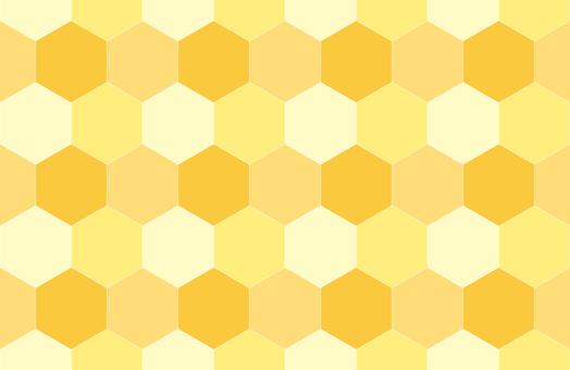 無縫六角蜂窩圖案背景黃色