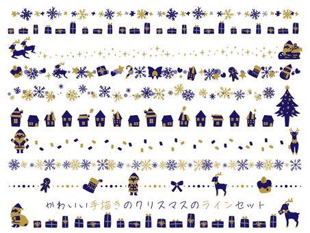 時尚聖誕手繪線組