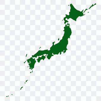 簡化的日本地圖