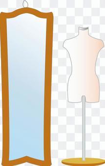 軀乾和鏡子時尚