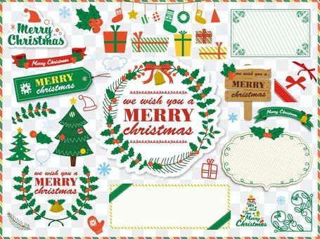 聖誕節圖標·框架材料