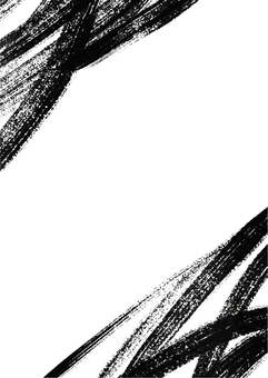 Japanese style background material written with a brush
