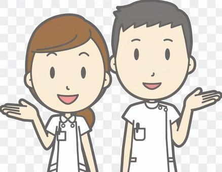 護士男女指南微笑胸