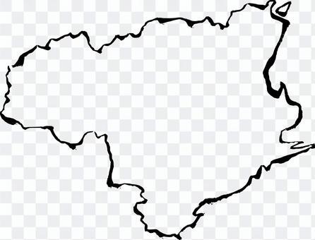 德島/毛筆地圖