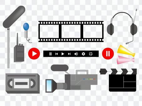 視頻視頻拍攝電視插圖