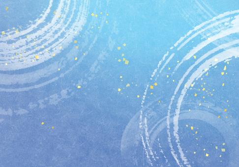 水/涼爽/夏季圖像水彩背景藍色水面