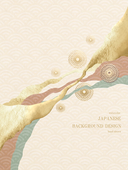 新年賀卡青海波日本背景 31