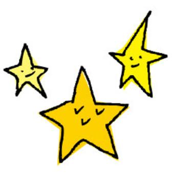 手繪的明星