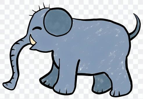 兒童畫的大象動物