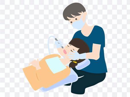 做牙科實踐的牙醫
