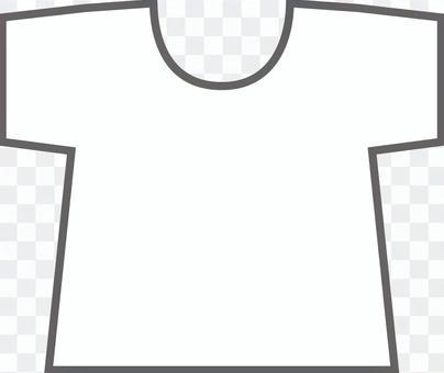 白色素色T卹