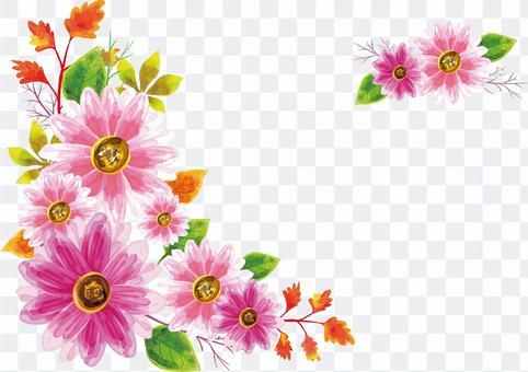 コスモスの花フレーム