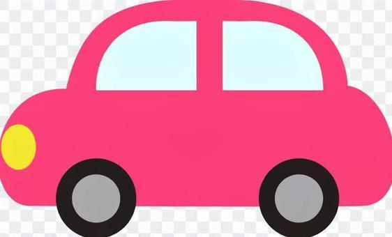 汽车_粉红色