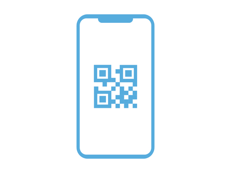Smartphone screen with QR code displayed