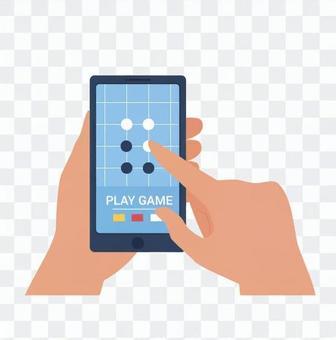 在智能手機上玩遊戲