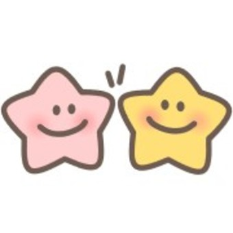 Star smile smile face high five