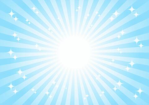 青色の放射状キラキラ背景素材