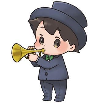吹喇叭的男人