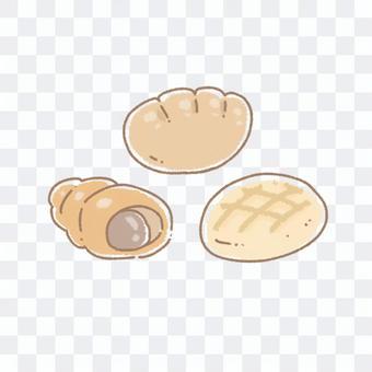 瓜麵包奶油麵包巧克力短號