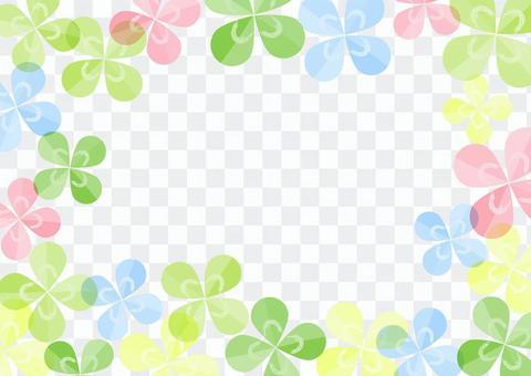 Colorful clover frame