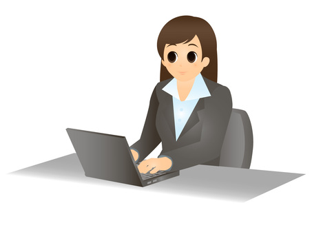 Business / laptop computer and woman