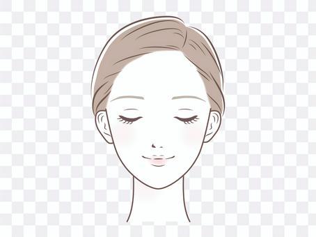 女人的臉(閉上眼睛)