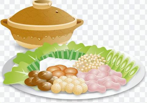 Pot and ingredients