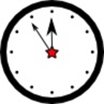 簡單的壁鐘