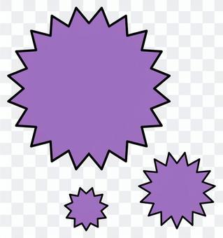 簡單的紫刺病毒PNG