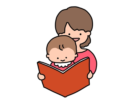Storytelling of picture books Mother and child