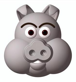 Porcine pig _ ash