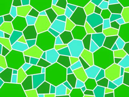 モザイク グリーン 六角形 壁紙