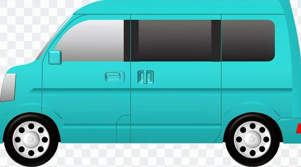 面包车(车)蓝色