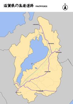 滋賀縣滋賀高速公路日本地圖