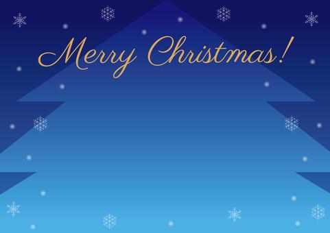 Christmas tree frame background blue