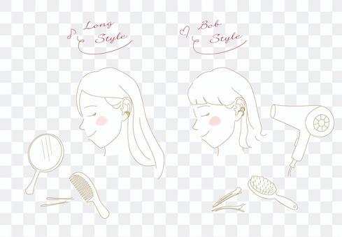 女式耳套2件護髮產品