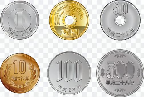 硬幣在平成28