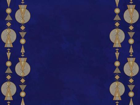 幾何学模様のフレーム(大理石調)