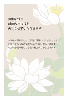 在哀悼白蓮花的明信片